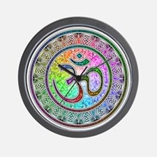 OM-mandala Wall Clock
