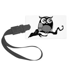 graphic owl Luggage Tag