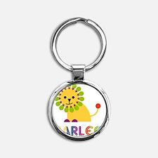 Marlee-the-lion Round Keychain