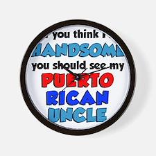 Handsome Puerto Rican Uncle Wall Clock