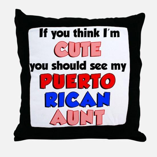 Cute Puerto Rican Aunt Throw Pillow