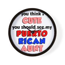 Cute Puerto Rican Aunt Wall Clock