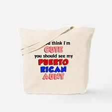Cute Puerto Rican Aunt Tote Bag