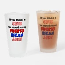 Cute Puerto Rican Aunt Drinking Glass