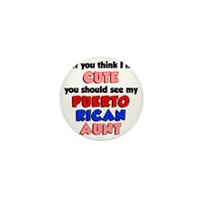 Cute Puerto Rican Aunt Mini Button