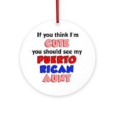 Cute Puerto Rican Aunt Round Ornament