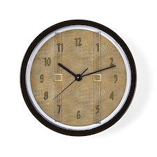 Luggage Leather clock Wall Clock