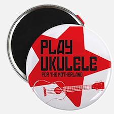 funny russian soviet union ukulele uke desi Magnet