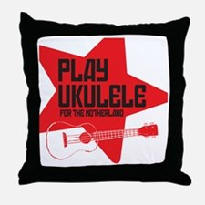 funny russian soviet union ukulele uk Throw Pillow