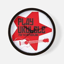 funny russian soviet union ukulele uke  Wall Clock