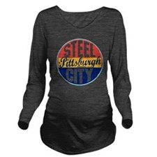 Pittsburgh Vintage L Long Sleeve Maternity T-Shirt