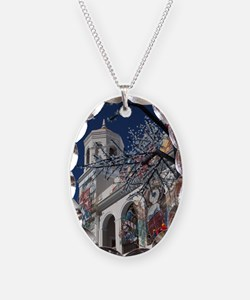 Christmas decorations, Old San Necklace Oval Charm