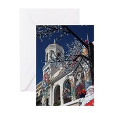 Christmas decorations, Old San Juan, Greeting Card