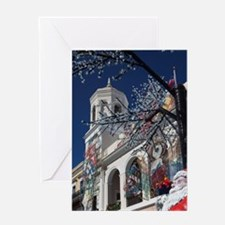 Christmas decorations, Old San Juan, Greeting Card
