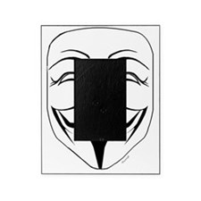 Anonymous Mask Stencil Picture Frame