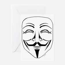 Anonymous Mask Stencil Greeting Card