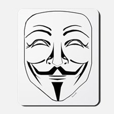 Anonymous Mask Stencil Mousepad