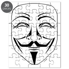 Anonymous Mask Stencil Puzzle
