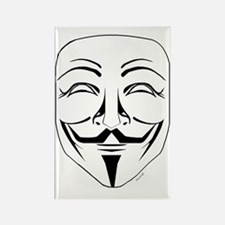 Anonymous Mask Stencil Rectangle Magnet