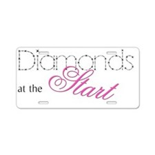 diamonds Aluminum License Plate