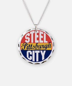 Pittsburgh Vintage Label B Necklace
