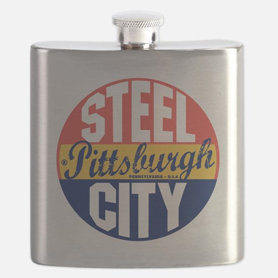 Pittsburgh Vintage Label B Flask