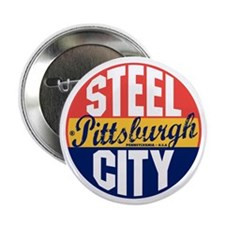"Pittsburgh Vintage Label B 2.25"" Button"