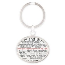 SB Quotes Oval Keychain