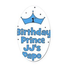 birthdayprince_1st_JJsPapo Oval Car Magnet