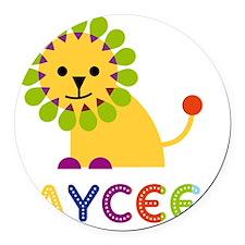 Jaycee-the-lion Round Car Magnet