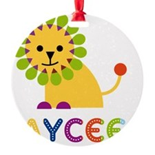 Jaycee-the-lion Round Ornament