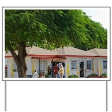 Cayman Islands. Post office in the town  Yard Sign