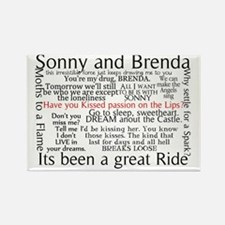 Sonny and Brenda Quotes Notes Rectangle Magnet
