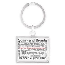 Sonny and Brenda Quotes Notes Landscape Keychain