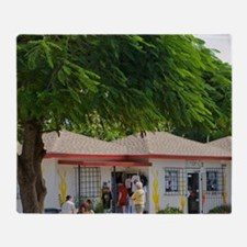 Cayman Islands. Post office in the t Throw Blanket