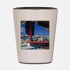 Caribbean, St. Martin. Orient Bay. Shot Glass