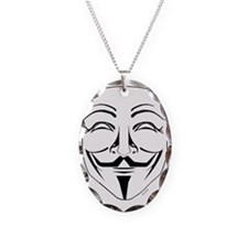 Anonymous Mask Pin Necklace