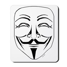 Anonymous Mask Pin Mousepad