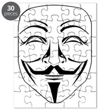 Anonymous Mask Pin Puzzle