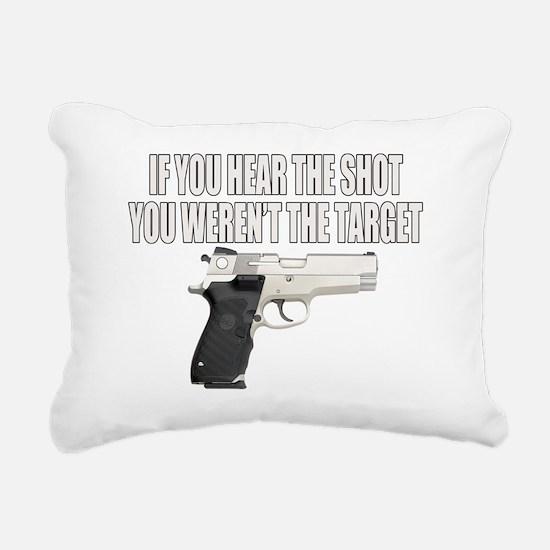 HEAR THE TARGET Rectangular Canvas Pillow
