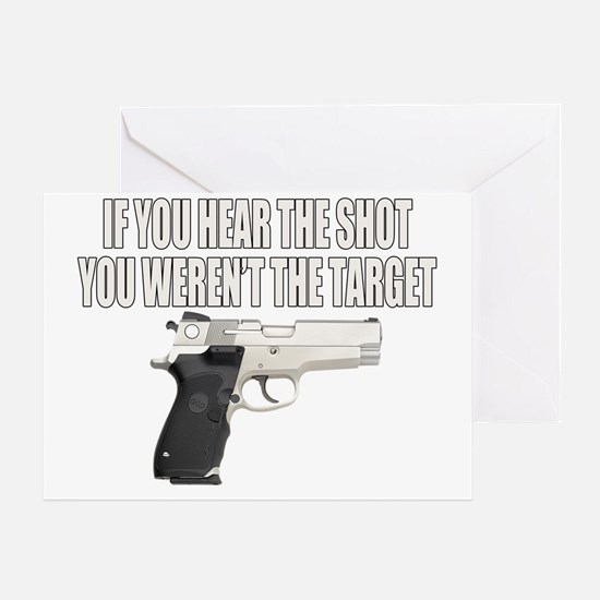 HEAR THE TARGET Greeting Card