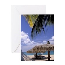 Caribbean, St. Lucia, Rodney Bay Red Greeting Card