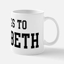 Belongs to Elizabeth Small Small Mug