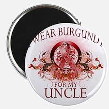 I Wear Burgundy for my Uncle (floral) Magnet