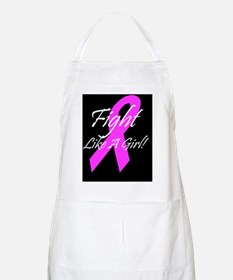 Breast Cancer pink ribbon fifht like a girl  Apron