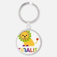 Annalise-the-lion Round Keychain