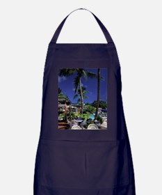 Bolongo Bay. Beach cafe table St. Tho Apron (dark)