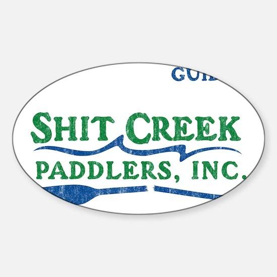 shitcreek copy Sticker (Oval)