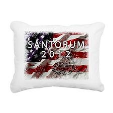 SANTORUM Rectangular Canvas Pillow