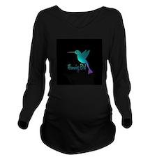 humming bird10 Long Sleeve Maternity T-Shirt
